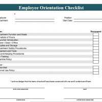 new employee orientation checklist template excel