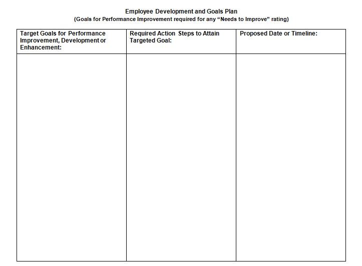 performance review template word