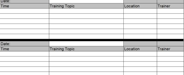 training schedule template for new employees