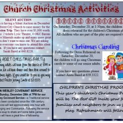 Church Christmas program activities template