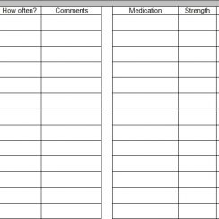 medical spreadsheet template