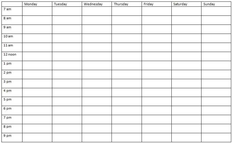 nursing daily shift planner template