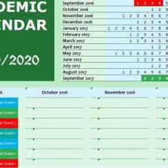 academic calendar template excel