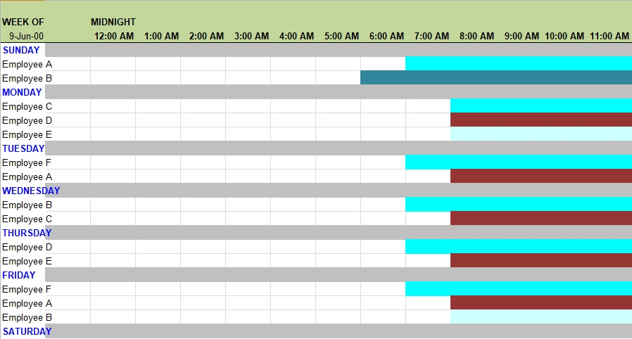 weekly schedule template excel free download