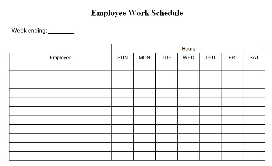 work schedule maker template free