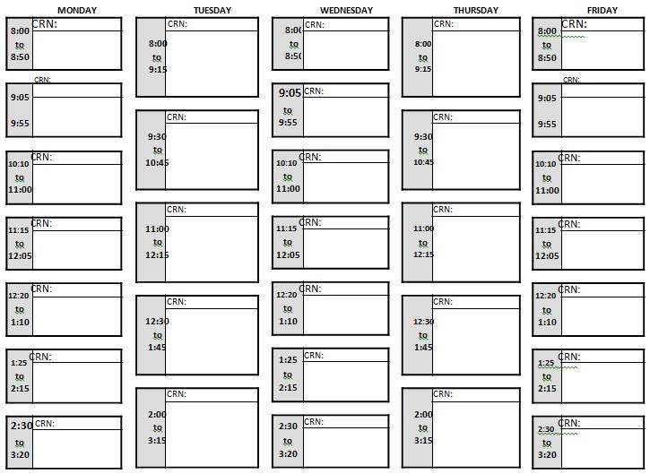 editable classroom schedule template