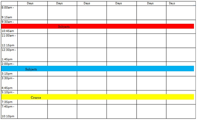 special education classroom schedule template