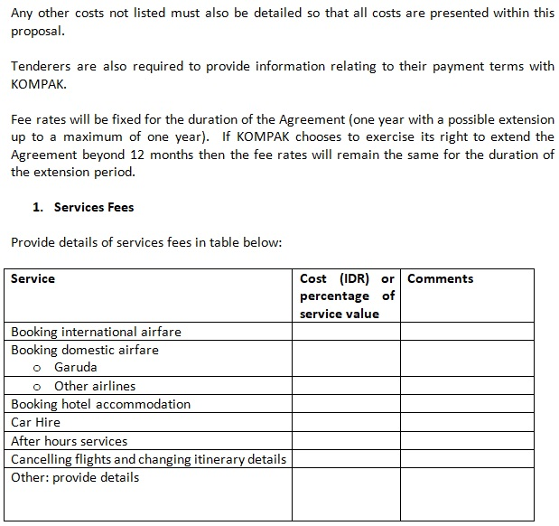 travel service invoice template