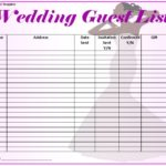 Free Printable Wedding Guest List Templates (Word, PDF, Excel)