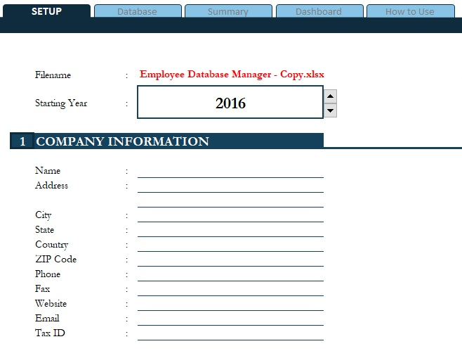access database for employee management