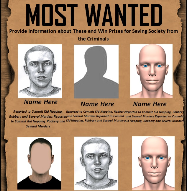 blank wanted poster template free