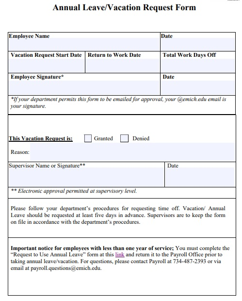 campus leave authorization form