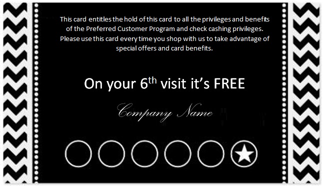 create your own punch card