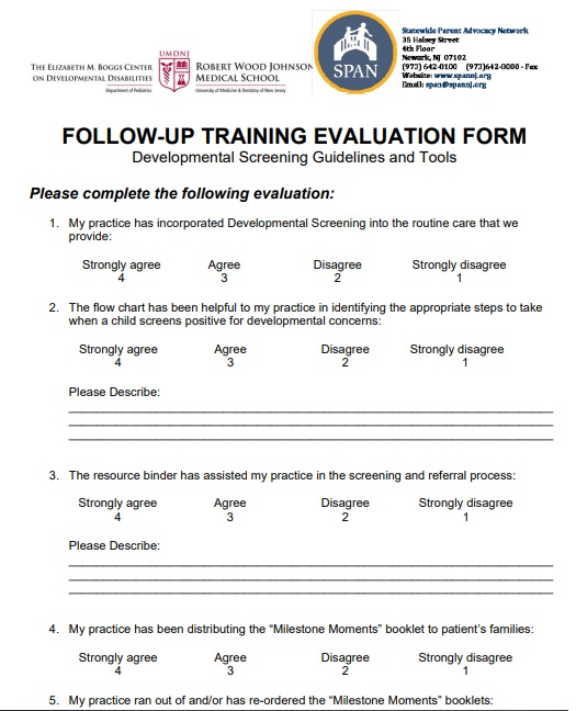 follow-up training evaluation form