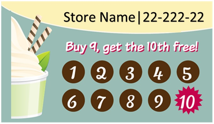 free printable punch card