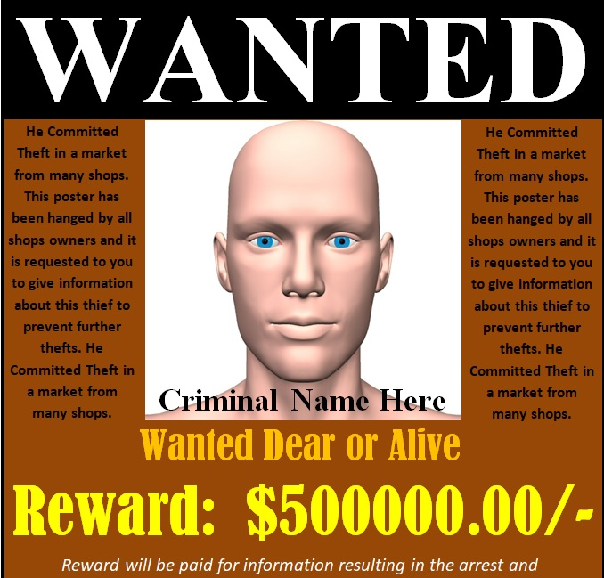 free wanted poster template editable