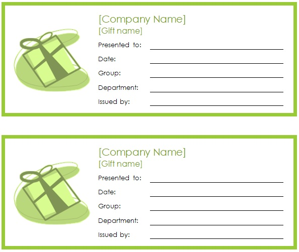 gift coupon design template