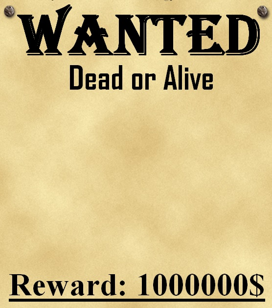 making a wanted poster template