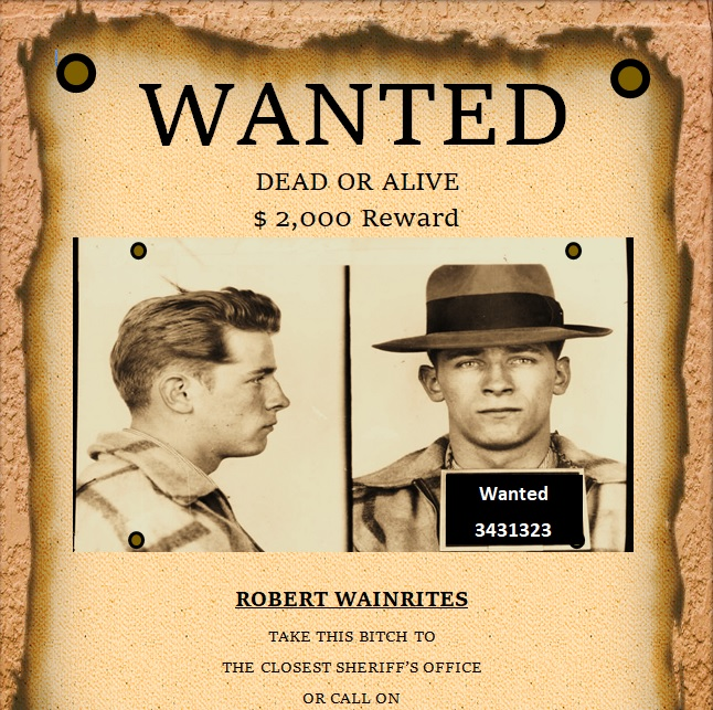 modern wanted poster template