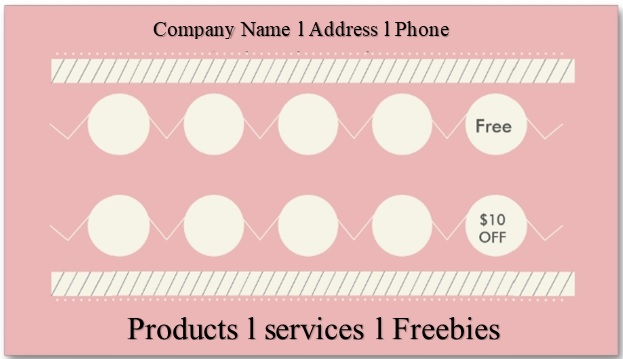 punch card template editable