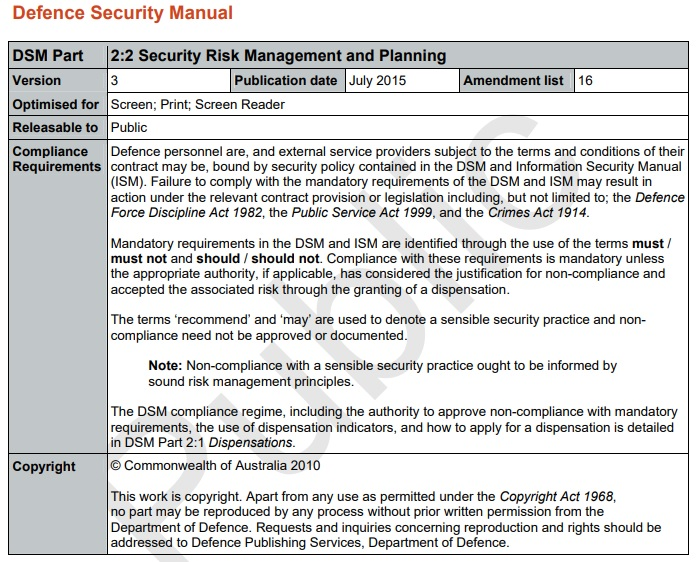 security risk management plan