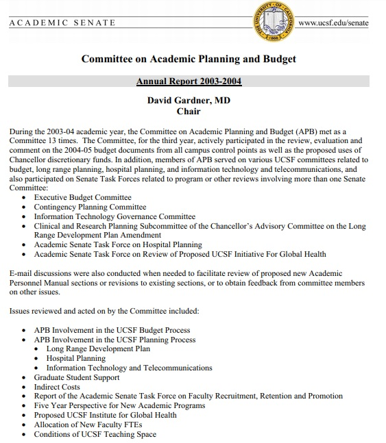 committee on academic planning and budget template