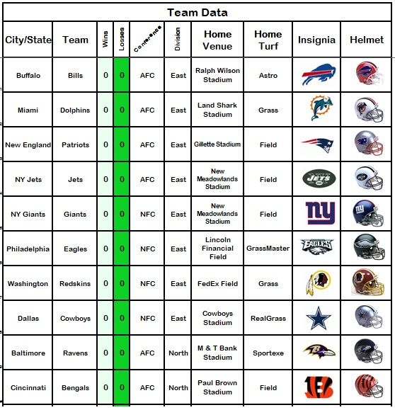 football pool sheet excel