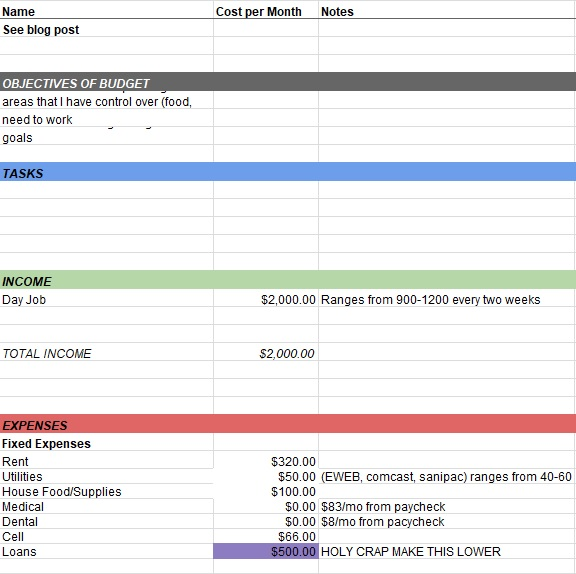 personal daily expense tracker sheet excel