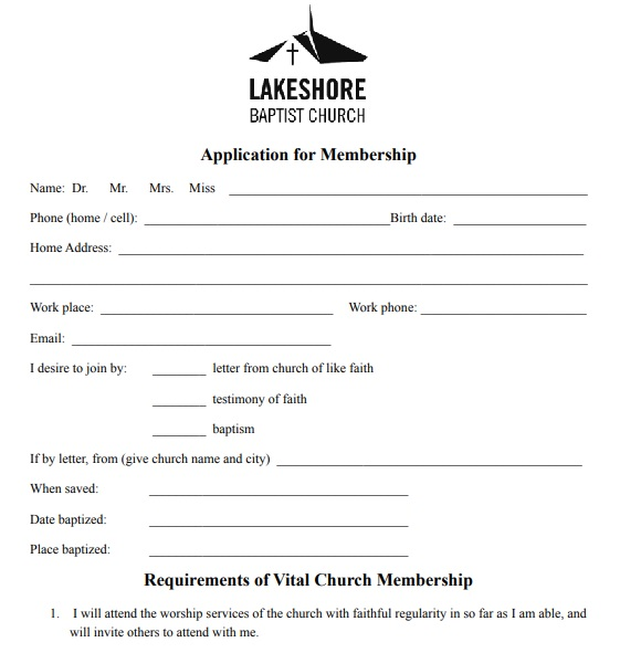 printable application for membership form