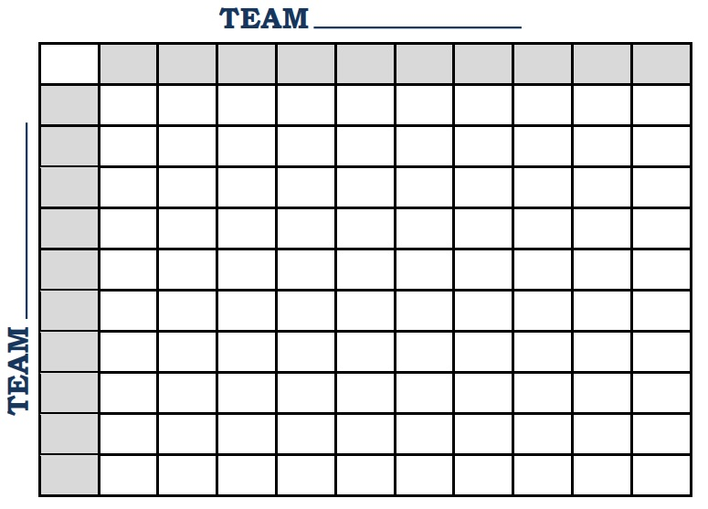 printable football square template