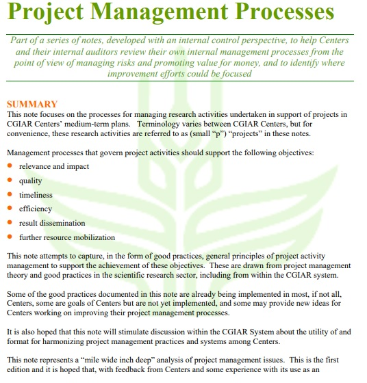 project management process timeline template