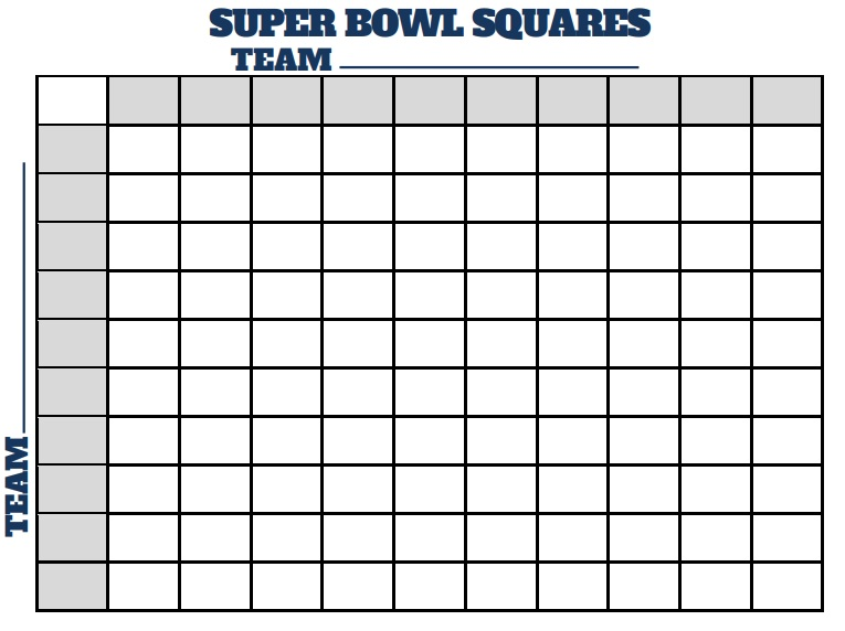 super bowl squares football pool template