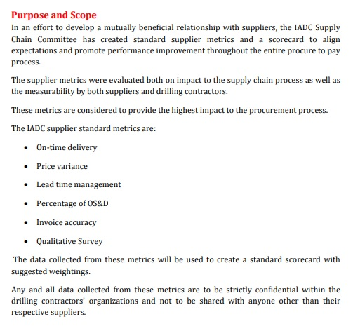 supplier performance scorecard template