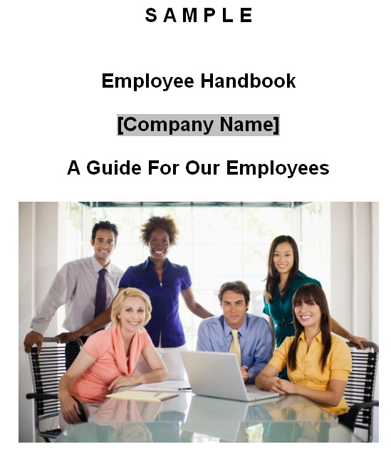 free employee handbook template word