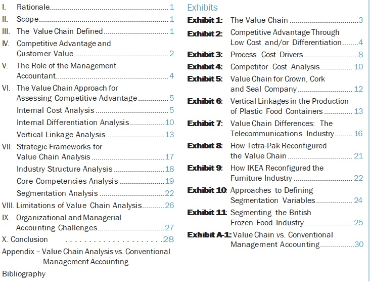 value chain analysis for assessing competitive