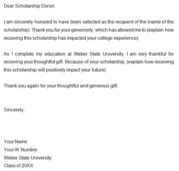 college scholarship thank you letter