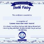 first tooth fairy certificate template
