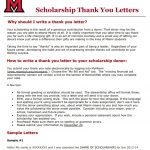 Scholarship Thank You Letters & Examples (Word, PDF)