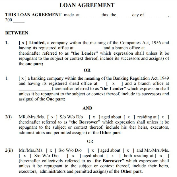 reverse mortgage loan agreement