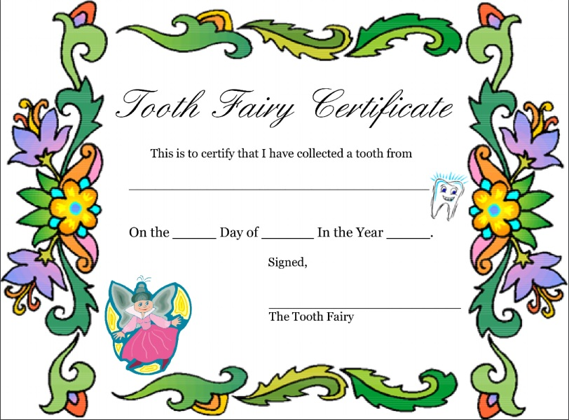 tooth fairy letter template boy