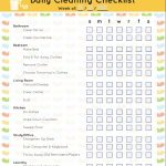 Free Printable House Cleaning Schedule Template (Word, Excel, PDF)