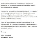 Free Proposal Rejection Letter (Decline Bid or Business Proposal)