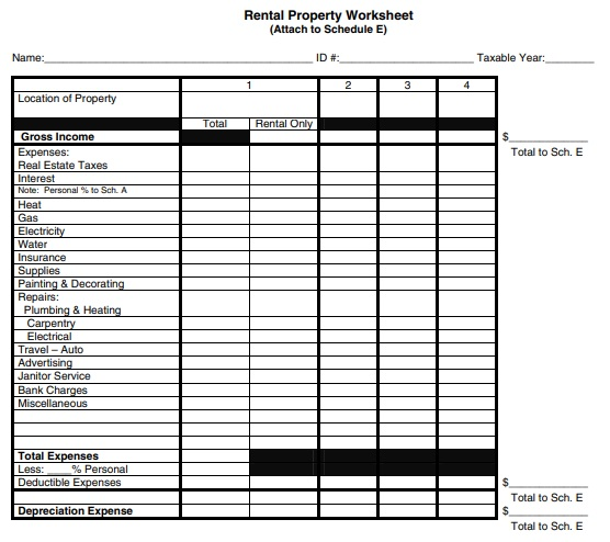 free rental property management template