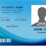 student id card template word