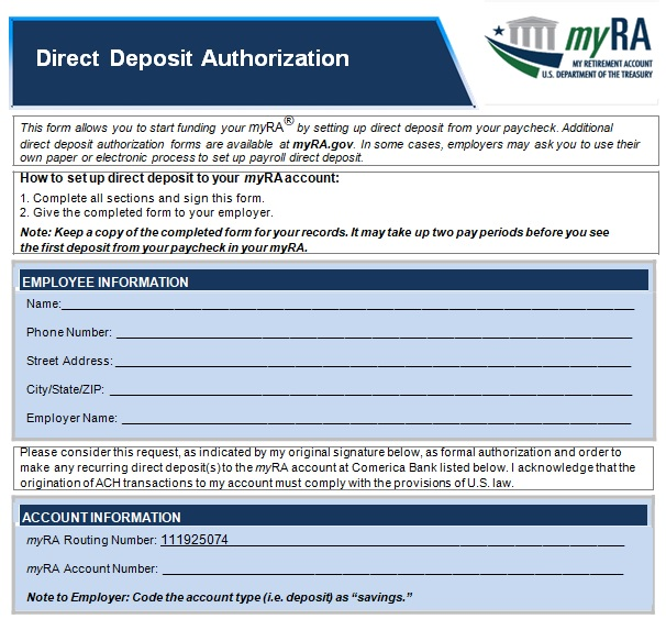 free printable direct deposit form