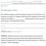 Hunting Lease Agreement Template (Word, PDF)