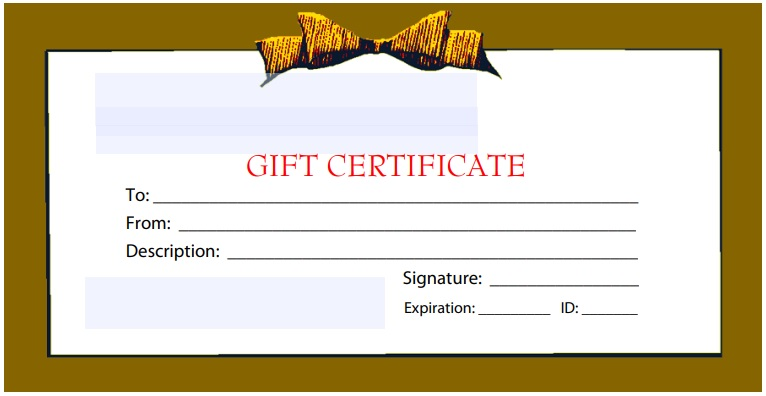 holiday christmas gift certificate template