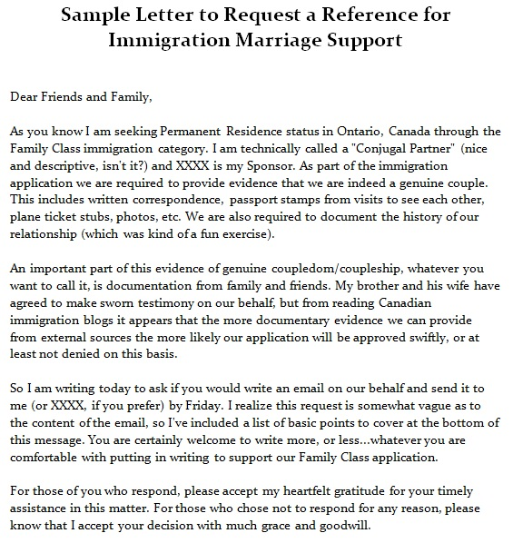 reference letter for married couple for immigration sample