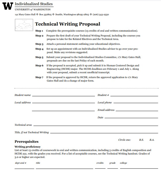 technical writing proposal example