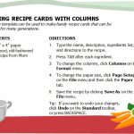 Free Printable Cookbook Recipe Template